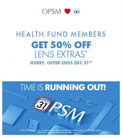 Offers from OPSM in the Brisbane QLD catalogue