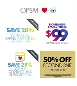 OPSM catalogue in Hobart TAS ( Expires tomorrow )