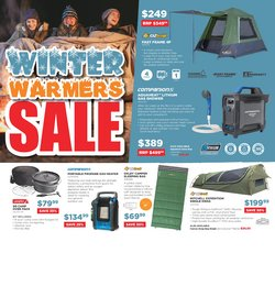 Sport specials in the OZtrail catalogue ( 5 days left)