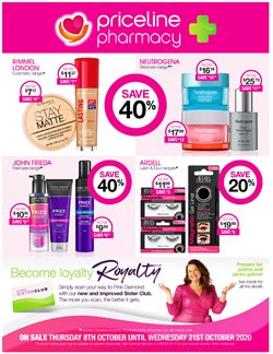 Pharmacy, Beauty & Health offers in the Priceline catalogue ( Expires tomorrow )