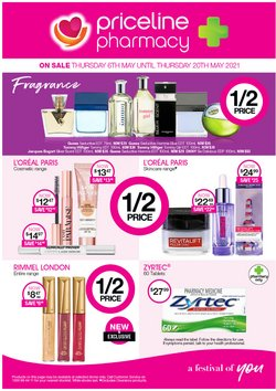 Mother's day specials in the Priceline catalogue ( Published today)