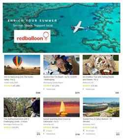 Travel & Leisure offers in the Red Balloon catalogue in Perth WA ( 22 days left )