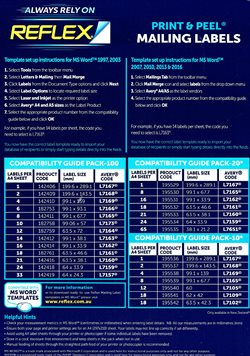 Offers from Reflex in the Sydney NSW catalogue
