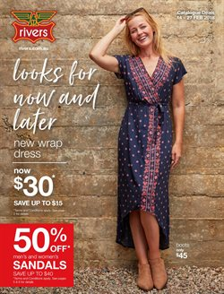 Clothing, Shoes & Accessories offers in the Rivers catalogue in Bendigo VIC