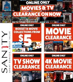 Sanity specials in the Sanity catalogue ( Expires today)