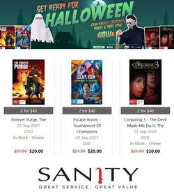 Sanity specials in the Sanity catalogue ( 6 days left)