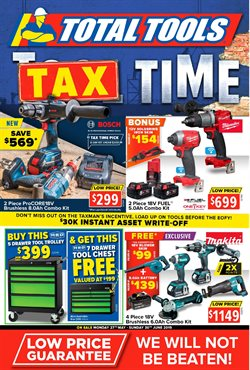 Offers from Total Tools in the Brisbane QLD catalogue