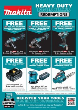 DIY & Garden specials in the Total Tools catalogue ( More than one month)