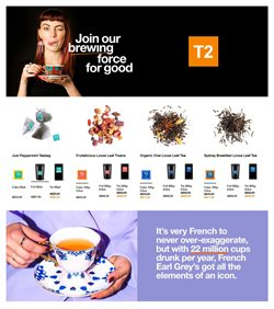 Restaurants offers in the T2 catalogue in Sydney NSW