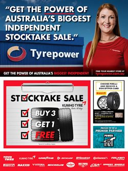 Cars, motorcycles & spares offers in the Tyrepower catalogue in Swan Hill VIC