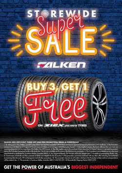 Cars, motorcycles & spares offers in the Tyrepower catalogue in Sydney NSW