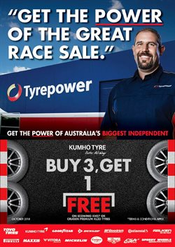 Cars, motorcycles & spares offers in the Tyrepower catalogue in Brisbane QLD