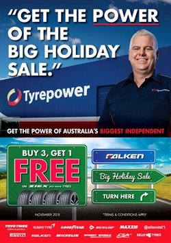 Cars, motorcycles & spares offers in the Tyrepower catalogue in Baldivis WA