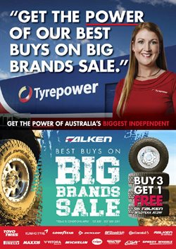 Offers from Tyrepower in the Bairnsdale VIC catalogue