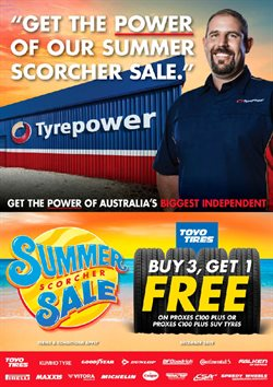 Cars, motorcycles & spares offers in the Tyrepower catalogue in Melbourne VIC
