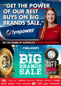Cars, Motorcycles & Spares offers in the Tyrepower catalogue in Adelaide SA ( Published today )