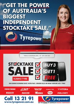 Tyrepower specials in the Tyrepower catalogue ( Expired)