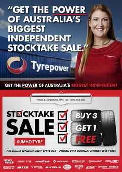 Cars, Motorcycles & Spares specials in the Tyrepower catalogue ( 10 days left)