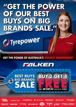 Cars, Motorcycles & Spares specials in the Tyrepower catalogue ( 6 days left)