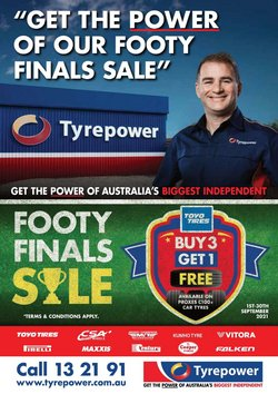 Cars, Motorcycles & Spares specials in the Tyrepower catalogue ( 11 days left)