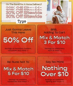 Typo specials in the Typo catalogue ( 9 days left)