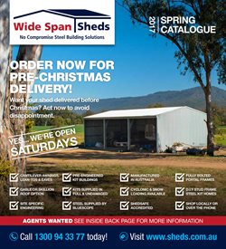 Offers from Wide Span Sheds in the Sydney NSW catalogue