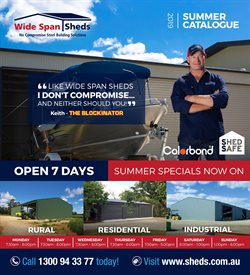 DIY & Garden offers in the Wide Span Sheds catalogue in Lithgow NSW