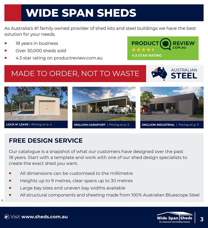 Wide Span Sheds in Toowoomba | Catalogues & Sale [Weekly]