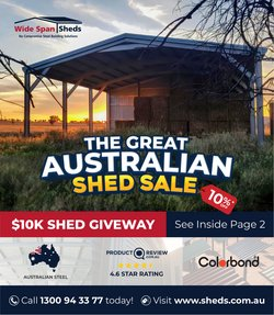 Wide Span Sheds catalogue ( More than one month )