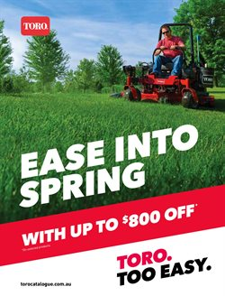 Offers from Toro in the Sydney NSW catalogue