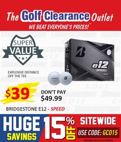 The Golf Clearance Outlet specials in the The Golf Clearance Outlet catalogue ( 8 days left)