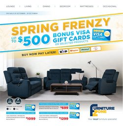 Furniture Zone specials in the Furniture Zone catalogue ( 8 days left)