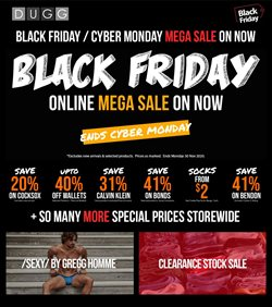 Cyber Monday specials in the Dugg catalogue ( Expires tomorrow)