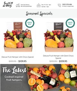 Fruit Only specials in the Fruit Only catalogue ( 4 days left)