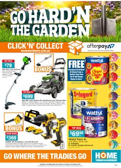 Offers from Home Timber & Hardware in the Melbourne VIC catalogue