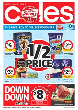 Offers from Coles in the Canberra ACT catalogue