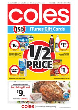 Grocery offers in the Coles catalogue in Sydney NSW
