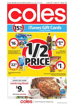 Grocery offers in the Coles catalogue in Baldivis WA