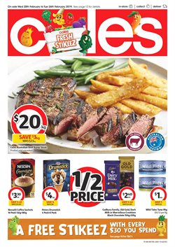 Supermarkets offers in the Coles catalogue in Baldivis WA