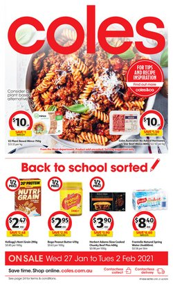 Back To School specials in the Coles catalogue ( Published today)