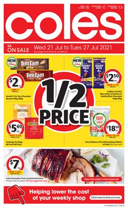 Supermarkets specials in the Coles catalogue ( Expires tomorrow)