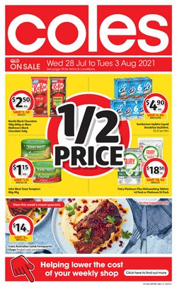 Supermarkets specials in the Coles catalogue ( 3 days left)
