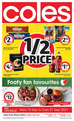 Supermarkets specials in the Coles catalogue ( Expires today)