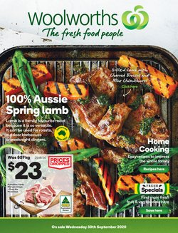 Halloween specials in the Woolworths catalogue ( Published today)