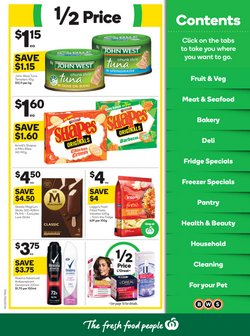 Supermarkets specials in the Woolworths catalogue ( 3 days left)