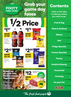 Woolworths catalogue ( Published today)
