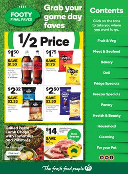 Woolworths specials in the Woolworths catalogue ( Published today)