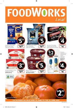 Supermarkets specials in the Foodworks catalogue ( 3 days left)