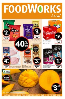 Supermarkets specials in the Foodworks catalogue ( 2 days left)