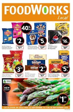 Supermarkets specials in the Foodworks catalogue ( Expires today)